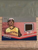Mookie Betts 2020 Topps Update RED PARALLEL ALL STAR STITCHES JERSEY RELIC /25