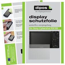 6x dipos Sony Cybershot DSC RX100 III / 3 Schutzfolie matt Antireflex Testsieger