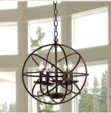 "Warehouse of Tiffany D6606-05 Theo 5-light Rust 17"" Pendant Lamp Chandelier NEW"