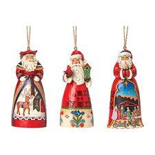 Heartwood Creek Set 3 Santa`s Hanging Tree Ornaments NEW  23330