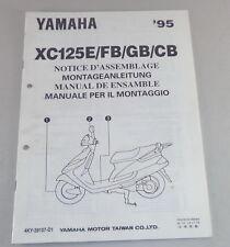 Istruzioni di montaggio/set up manual YAMAHA XC 125 U/fb/GB/CB STAND 12/1994