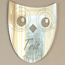 Personalised Owl Door Name Plaque Boy or Girls Bedroom Room Sign