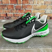 Nike React Infinity Pro Golf Shoes Black/Green Spark CT6620-001 Men's Size 8