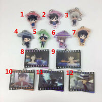 Anime Detective Conan acrylic Keychain KeyRing Race Straps Cosplay porte - clés