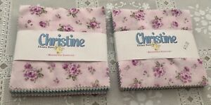 2 Quilting Charm Packs -  Christine by Eleanor Burns - NEW