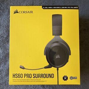 NEW OpenBox Corsair HS60 Pro Surround 3.5mm/USB Circumaural Gaming Headset Black