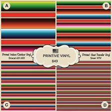 Serape Mexican Blanket Pattern Htv, Siser Printed Htv, Adhesive Vinyl 849
