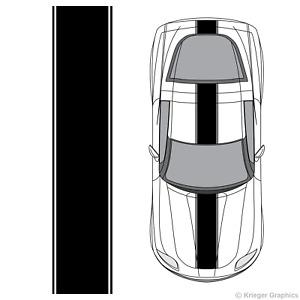Chevy Corvette Center Racing Stripe 3M Vinyl Decal Kit