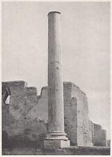 D6016 La colonna degli scavi di Ostia - Stampa d'epoca - 1933 vintage print
