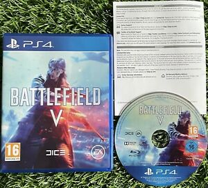 BATTLEFIELD V (FIVE) PlayStation 4 2018 WWII Game SUPERB CONDITION FREE POSTAGE