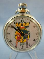 VINTAGE 1966's ** BATMAN and ROBIN The BOY WONDER ** SUPERHERO POCKET WATCH