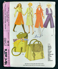 Barbie Ken Doll Instant Wardrobe Suit CarryAll McCalls Pattern 2580 Vtg 1970 Cut