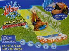 Kinder Wasserrutsche Wasserbahn Rutsche Kinderspiel Spaß Wasserspiel 488 x 71 cm