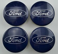 4pcs Ford 54mm Alloy Wheel Center Hub Caps Cover for Focus Fiesta Mondeo Blue
