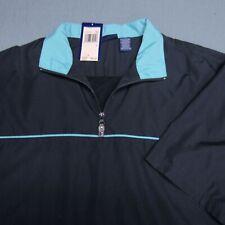 Pga Tour Poly Short Sleeve Golf Pullover-L-Logo-True Navy-Unworn!-New!Tags