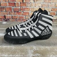 Adidas Adizero Varner Wrestling Shoes Black/Gray FW1013 Men Size 10.5