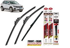 "VW Tiguan 2007-2016 German quality windscreen wiper blades 24""21""14"" full SET"