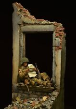 1:24 75mm Figura resina kit modello SECONDA GUERRA MONDIALE 82nd Airborne Normandia 1944 LETTERA A CASA