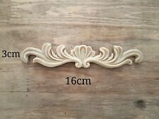 Shabby Chic Furniture Leaf Scroll Resin Decoration Applique Moulding Carving