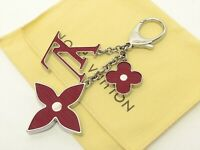 Louis Vuitton Authentic Metal bijoux sac fleur de epi Rubis Key Chain Bag Charm