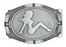 Mud Flap Girl Trucker Metal Belt Buckle