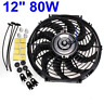 12inch Car Electric Fan & Fittings 12V 80W Push/Pull Universal Radiator Cooling