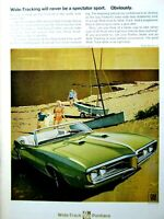 "1965 Pontiac Grand Prix /& Van Original Print Ad-8.5 x 11/"""