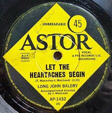 LONG JOHN BALDRY - LET THE HEARTACHES BEGIN B/W LORD YOU MADE - OZ PRESS ASTOR