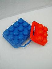 2 boîtes à œufs des années 70 dont une orange de marque Clé