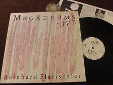 LP Reinhard flatischler megadrums LIVE UK 1980 | EX