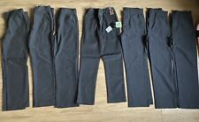 7 Pairs NEXT Slim Fit School Grey Trousers Age 10 Years One NEW