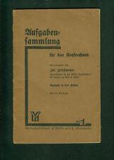 Aufgabensammlung für das Kopfrechnen Jos. Zettelmeyer Heft 1 1928 Rechnen