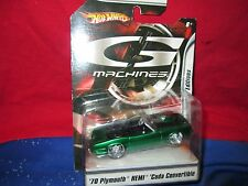 1970 70 PLYMOUTH CUDA BARRACUDA  Hot Wheels  gassers G Machines 1/50