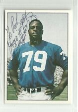 Roosevelt Brown 1981 Tcma autographed auto signed card New York Giants
