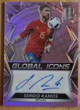2016-17 Spectra Soccer Global Icons Signatures #GI-SR Sergio Ramos Auto 42/49