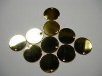 Gold Plated Disc Drops Earring Findings - 10 S - 12mm