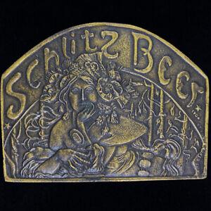 Schlitz Beer Sexy Woman Drinker Gift Hippie Rare 1970s NOS Vintage Belt Buckle