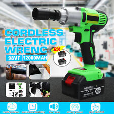 98VF Electric Cordless Impact Wrench Gun Driver Tool Lithium-Ion With  U