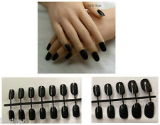Black Hot 24 Pcs Sweet Candy beach Round Head French False Fake Nails Full Tips