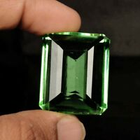 Brazilian 54.10 Ct Green Amethyst Emerald Cut Faceted Loose Gemstone BP-212