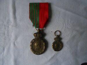 Médaille de St Hélène de Napoléon 1er avec sa réduction