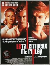 Displays the Talented Mr. Ripley Mr. Matt Damon 15 11/16x23 5/8in