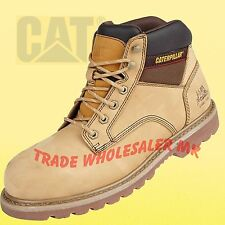 f5b9c5fdae5a0 MEN TRK CATERPILLAR SAFETY WORK BOOTS LEATHER SHOES CAT STEEL TOE CAP