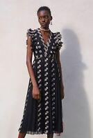 Giambattista Valli X H&M HM Long Chiffon Dress Lace 6 8 12 10 14 34 36 38 40 42