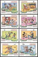 Lesotho 1983 Disney/Mickey/Pluto/Christmas/Greetings/Animation 8v set (b1902)