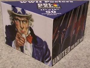 Jigsaw 2 sided Puzzle in the 3 sided box 50 piece Patriotic Posters of WW2 NEW