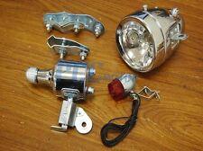 Bicycle Motorized Bike Friction Generator Headlight Tail Light Kit 12V 6W I LT36