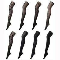 Black Pattern Opaque and Sheer Pantyhose Stocking Tights Strench-8type