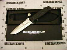 RAZOR BLADES STALKER G10 HUNTING CAMPING SKINNING KNIFE. BOWIE 2NDS