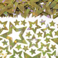 Estrellas Doradas Confetti Mesa Brillante Prismático Estrellas